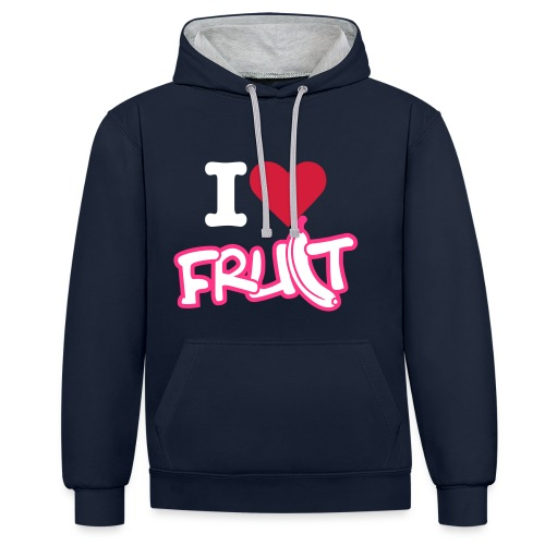 'I love fruit (Womens Jumper) - Contrast Colour Hoodie