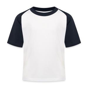 Kids - Witmet donker blauwe/rode shirt - Kinderen baseball T-shirt