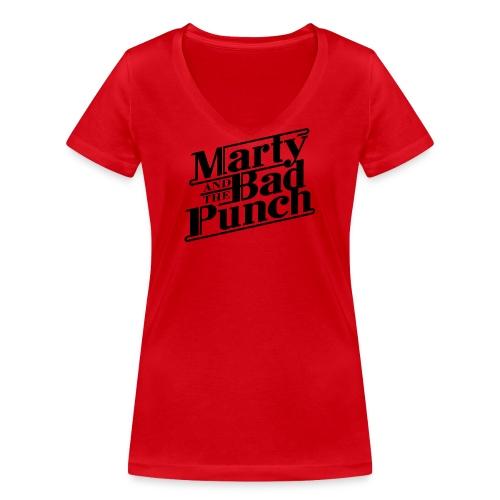 Girls V-Shirt with black logo - Women's Organic V-Neck T-Shirt by Stanley & Stella