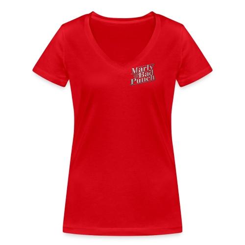Girls V-Shirt with silver logo - Women's Organic V-Neck T-Shirt by Stanley & Stella