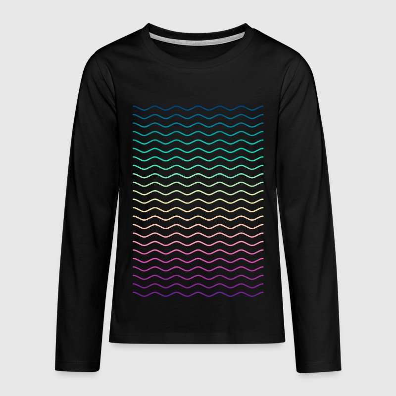 Minimal Geometry Hipster Lines (colorful/rainbow) Long Sleeve Shirts - Teenagers' Premium Longsleeve Shirt