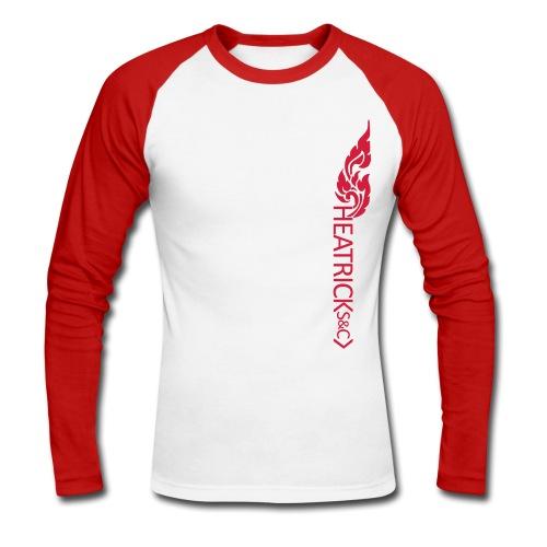 Baseball Style Long Sleeve Shirt, Red Logo - Men's Long Sleeve Baseball T-Shirt