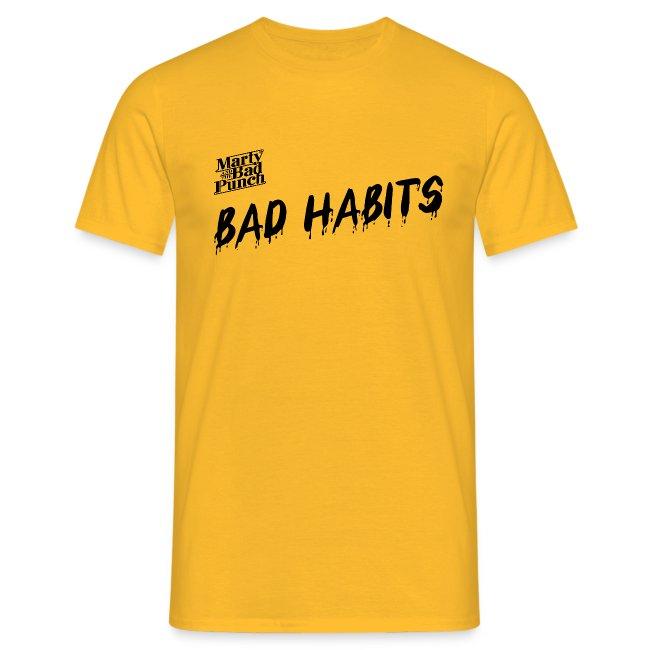 Mens Bad Habits Shirt with Logo