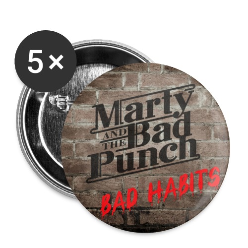 Marty - Bad Habits Button 25mm - Buttons small 1''/25 mm (5-pack)