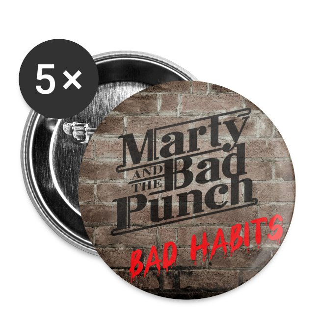 Marty - Bad Habits Button 25mm