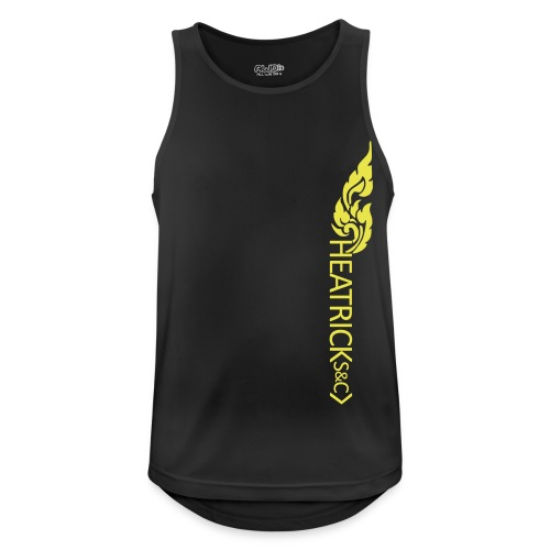 Mens Breathable Vest YELLOW Logos - Monday - Men's Breathable Tank Top