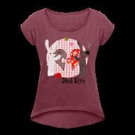 Tee shirts ~ T-shirt Femme à manches retroussées ~ Tee-shirt Red Eye