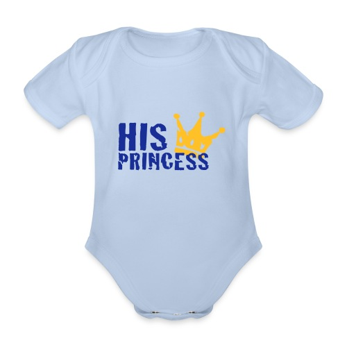 Body bebé His princess - Body orgánico de maga corta para bebé