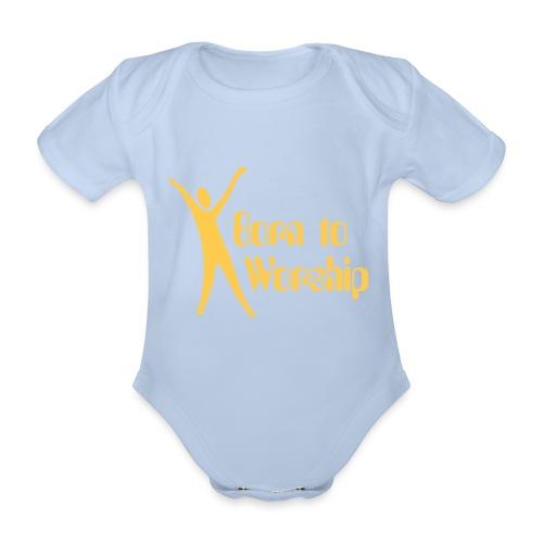 Body bebé Born to Worship - Body orgánico de maga corta para bebé