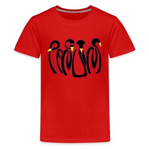 Teenage Red Penguins Premium T-Shirt - Teenage Premium T-Shirt