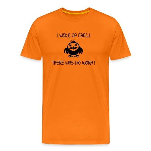 early angry bird frühe vogel wurm T-Shirts - Männer Premium T-Shirt