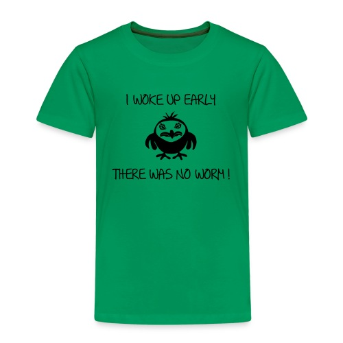 early angry bird frühe vogel wurm T-Shirts - Kinder Premium T-Shirt