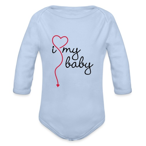 Body bebé I love my baby - Body orgánico de manga larga para bebé