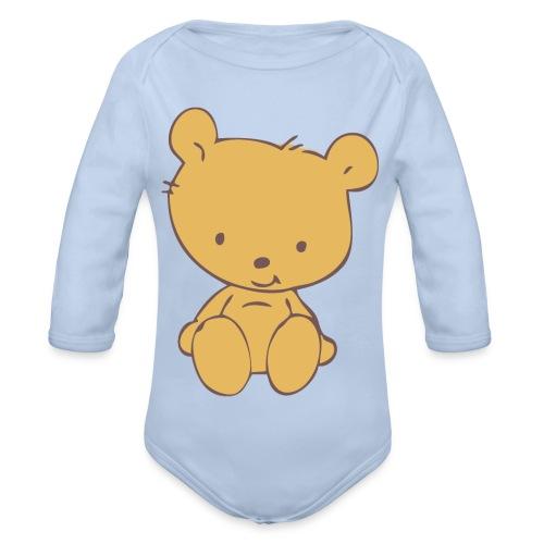 Body bebé osito marrón - Body orgánico de manga larga para bebé