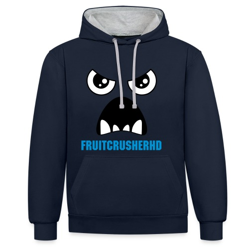 'I love fruit (Mens Jumper) - Contrast Colour Hoodie