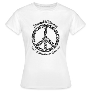 StrandWärmer Flower Signs Peace - Frauen T-Shirt