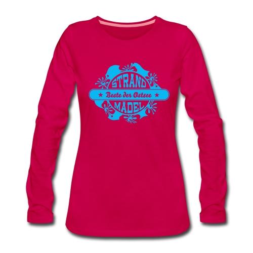 StrandWärmer_StrandMädel - Frauen Premium Langarmshirt