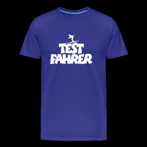 Testfahrer Après-Ski T-Shirt (Blau/Weiß) - Männer Premium T-Shirt