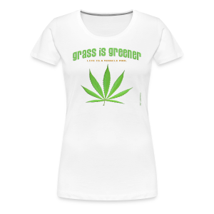 grass is greener - Frauen Premium T-Shirt