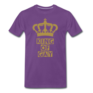KING OF GAY (GOLD-GLITTER) - Männer Premium T-Shirt