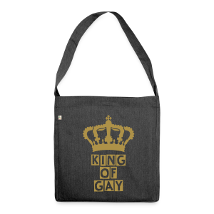 KING OF GAY (GOLD-GLITTER) - Schultertasche aus Recycling-Material