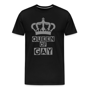 QUEEN OF GAY (SILBER-GLITTER) - Männer Premium T-Shirt