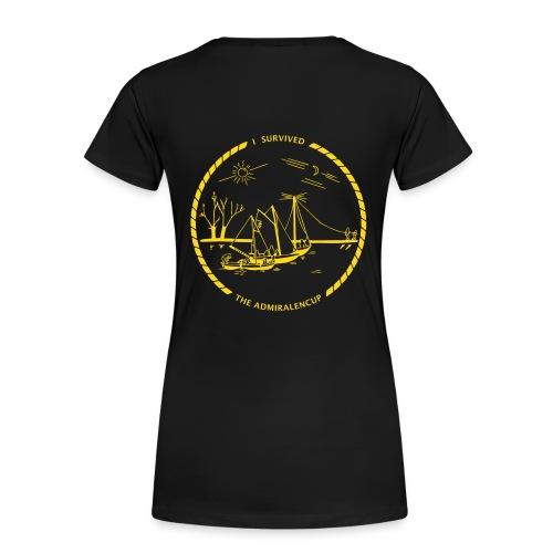 Dames-shirt met logo (zwart) - Vrouwen Premium T-shirt