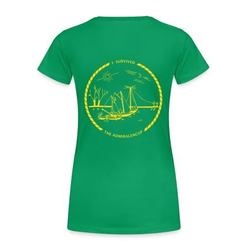 Dames-shirt met logo (groen) - Vrouwen Premium T-shirt