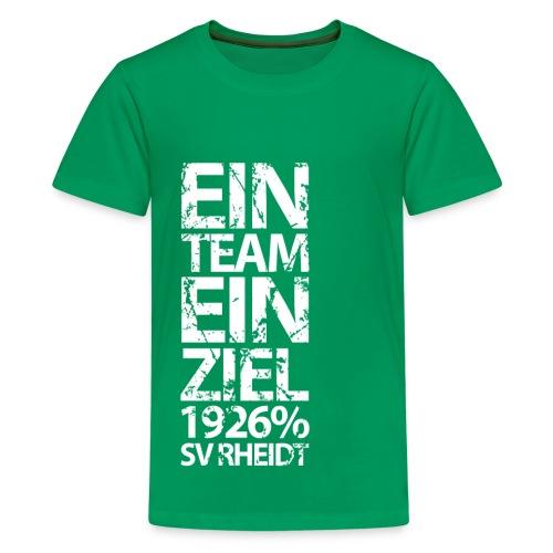 Ein Team, Ein Ziel (green) - Teenager Premium T-Shirt