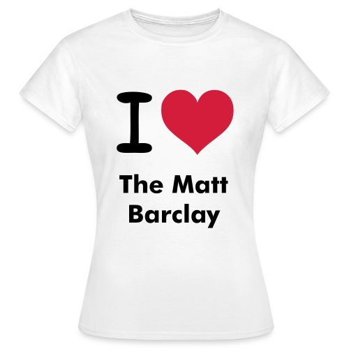 The Matt Barclay - tshirt exclusive - white - Women's T-Shirt