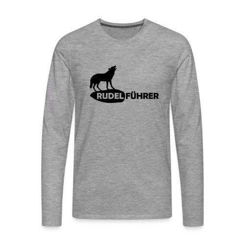 Rudelführer Wolf Alphatier Leitwolf Papa Langarmshirts - Männer Premium Langarmshirt