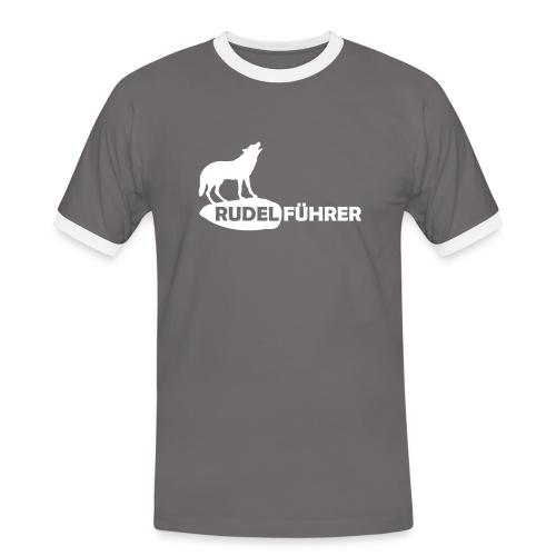 Rudelführer Wolf Alphatier Leitwolf Papa T-Shirts - Männer Kontrast-T-Shirt