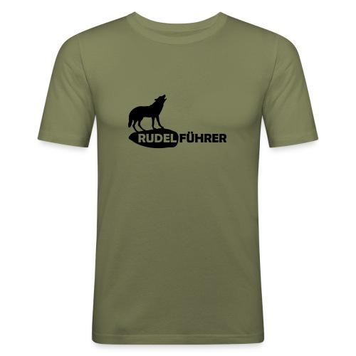 Rudelführer Wolf Alphatier Leitwolf Papa T-Shirts - Männer Slim Fit T-Shirt