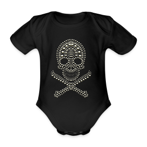 Skull - cool Design - Baby Bio-Kurzarm-Body