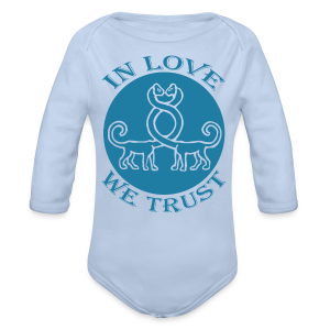 IN LOVE WE TRUST - Baby Bio-Langarm-Body