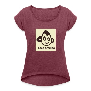 Giggles T-shirt  - Women's T-shirt with rolled up sleeves