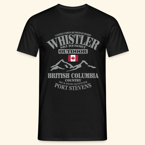 Whistler - Canadian Ski Resort - Männer T-Shirt