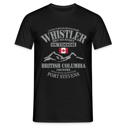 Whistler - Canadian Ski Resort - Männer T-Shirt