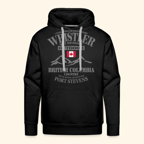 Whistler - Canadian Ski Resort - Männer Premium Hoodie