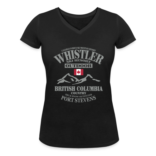 Whistler - Canadian Ski Resort - Frauen Bio-T-Shirt mit V-Ausschnitt von Stanley & Stella