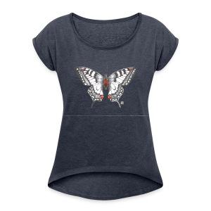 T-Shirt *Schmetterling* - Frauen T-Shirt mit gerollten Ärmeln