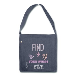 Find your wings and Fly-Crossbody Bag - Shoulder Bag made from recycled material