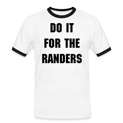 Do it for the Randers - Herre kontrast-T-shirt