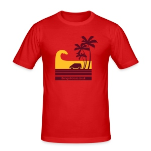 Bongo Surf Silhouette - Men's Slim Fit T-Shirt