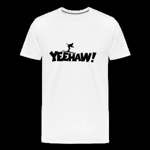 Yeehaw Skiing T-Shirt (Weiß/Schwarz) Herren - Männer Premium T-Shirt