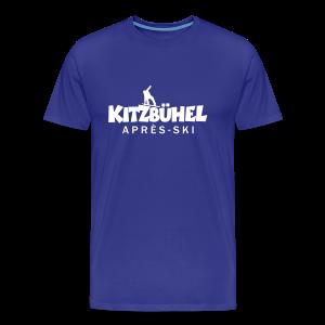 Kitzbühel Snowboard Après-Ski T-Shirt (Herren Blau) - Männer Premium T-Shirt