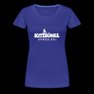 Kitzbühel Snowboard Après-Ski T-Shirt (Damen Blau) - Frauen Premium T-Shirt