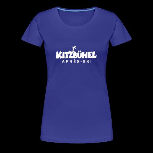 Kitzbühel Après-Ski T-Shirt (Damen Blau) - Frauen Premium T-Shirt