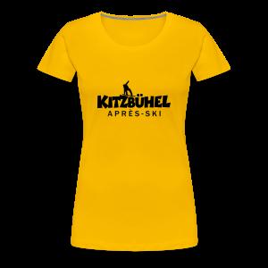 Kitzbühel Snowboard Après-Ski T-Shirt (Damen Gelb/Schwarz) - Frauen Premium T-Shirt