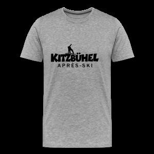 Kitzbühel Snowboard Après-Ski T-Shirt (Herren Grau/Schwarz) - Männer Premium T-Shirt